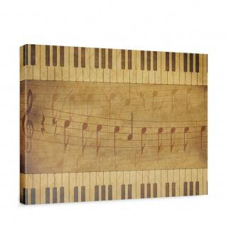 Leinwandbild Musik Noten Klavier Tasten Notenschlüssel | no. 5261