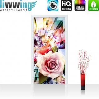 Türtapete - Abstrakt Blume Rose Rechteck | no. 991 - Vorschau 2