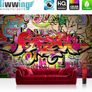liwwing Vlies Fototapete 350x245 cm PREMIUM PLUS Wand Foto Tapete Wand Bild Vliestapete - Kinderzimmer Graffiti Streetart - no. 220