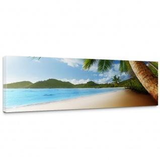 Leinwandbild Lonely Beach Strand Meer Palmen Beach 3D Ozean Palme   no. 4