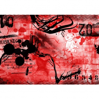 Fototapete Red Graffiti Wall Kindertapete Tapete Kinderzimmer Kindertapete Teen Jugendzimmer Graffiti rot   no. 36