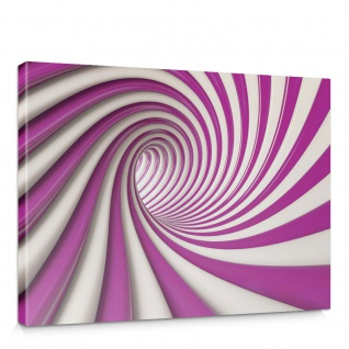 Leinwandbild Abstrakt Tunnel Streifen Illusionen | no. 593