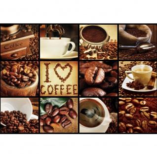 Fototapete Kulinarisches Tapete Kaffee, Barista, Kaffeebohnen, Rahmen schwarz braun | no. 3277