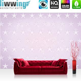 liwwing Vlies Fototapete 208x146cm PREMIUM PLUS Wand Foto Tapete Wand Bild Vliestapete - Kunst Tapete Stern Sterne Muster Design Kunst rosa - no. 2363