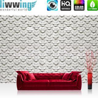liwwing Vlies Fototapete 208x146cm PREMIUM PLUS Wand Foto Tapete Wand Bild Vliestapete - Steinwand Tapete Steinoptik Steine Steintapete grau - no. 2908