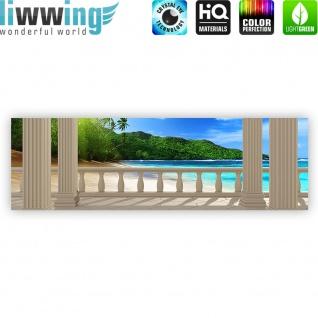 Leinwandbild Terrace View Caribbean Beach Seeblick 3D Strand Meer Sonne Palmen | no. 121 - Vorschau 4