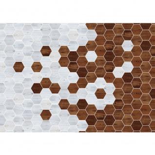 Fototapete Kunst Tapete Abstraktion Design Modern Mosaik Baum Brett braun | no. 4412