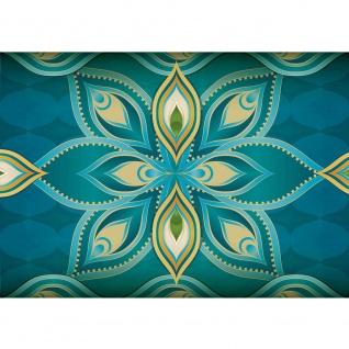 Fototapete Illustrationen Tapete Abstrakt Orient Muster vektorgrafik Illustrationen bunt blau gelb gelb | no. 364