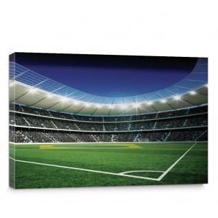 Leinwandbild Fußballstadion Eckpunkt Brasil Flutlicht Rasen Stadion grün   no. 309