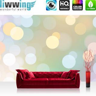 liwwing Vlies Fototapete 416x254cm PREMIUM PLUS Wand Foto Tapete Wand Bild Vliestapete - Illustrationen Tapete Bubble Schein Glanz Effekte bunt - no. 2400
