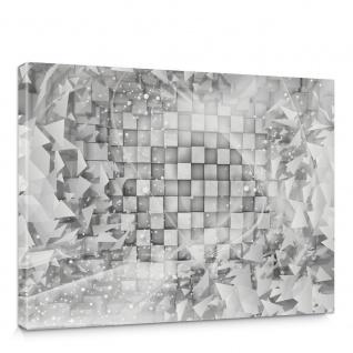 Leinwandbild Abstrakt Dreieck Quadrat Würfel Schwung Schnörkel Design Kugeln 3D Optik | no. 882