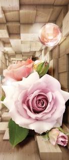 Türtapete - Abstrakt Blume Rose Rechteck | no. 972 - Vorschau 5