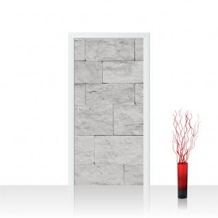 Türtapete - Steinwand Tapete Steinoptik Sandstein Steine Wand 3D Steintapete grau | no. 4302