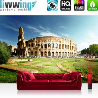 liwwing Vlies Fototapete 300x210 cm PREMIUM PLUS Wand Foto Tapete Wand Bild Vliestapete - Stadt Rom Kolosseum - no. 249