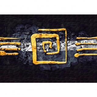 Fototapete Kunst Tapete Abstrakt Ornament Gelb Schwarz Hindergrund gelb   no. 219