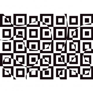 Fototapete Kunst Tapete Abstrakt Muster Quadrate Kunst schwarz - weiß | no. 2302
