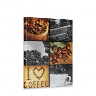 Leinwandbild Kaffee Coffee Kaffeebohnen Bohnen Herz Tasse | no. 2920