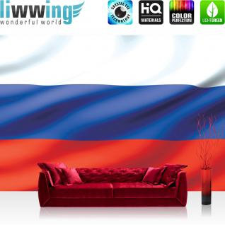 liwwing Fototapete 368x254 cm PREMIUM Wand Foto Tapete Wand Bild Papiertapete - Illustrationen Tapete Russland Flagge Fahne Nation bunt - no. 1040