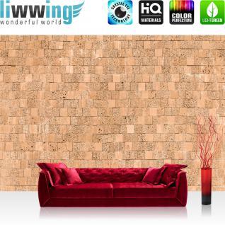 liwwing Vlies Fototapete 200x140 cm PREMIUM PLUS Wand Foto Tapete Wand Bild Vliestapete - Steinwand Tapete Steinmauer Steinwand Steinoptik natural - no. 693