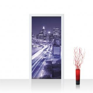 Türtapete - Skyline Straße New York Lightning | no. 561