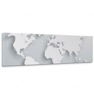 Leinwandbild Weltkarte Atlas Kontinente 3D Optik | no. 215