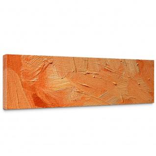Leinwandbild Wall of orange shades Wand Spachtel Hintergrund farbige Wand orange | no. 108