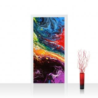 Türtapete - Rainbow Wall Bunt Abstrakt Hintergrund Dekoration | no. 106
