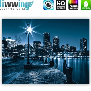 Leinwandbild Laterne Nacht New York Skyline Lichter Fluss | no. 856 - Vorschau 4