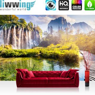 liwwing Vlies Fototapete 350x245 cm PREMIUM PLUS Wand Foto Tapete Wand Bild Vliestapete - Natur Wasser Sonne - no. 260