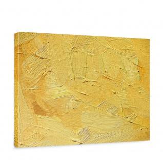 Leinwandbild Wall of yellow shades Wand Spachtel Hintergrund farbige Wand gelb | no. 107