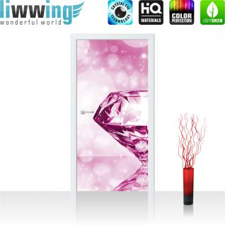 liwwing Türtapete selbstklebend 91x211 cm PREMIUM PLUS Tür Fototapete Türposter Türpanel Foto Tapete Bild - Diamond Glamour - no. 1002