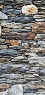 Türtapete - Steinwand Steinoptik Steine Wand Mauer Steintapete | no. 161 - Vorschau 5