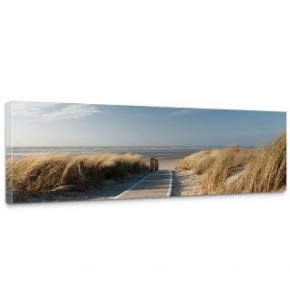 Leinwandbild North Sea Dunes Strand Meer Ostsee Beach Blau Himmel Sonne Sommer   no. 38
