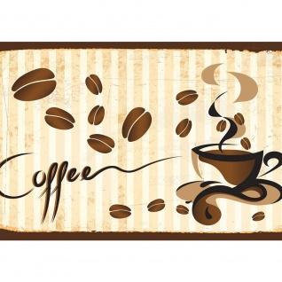 Fototapete Kaffee Tapete Tasse, Kaffeebohnen, Café braun | no. 3170