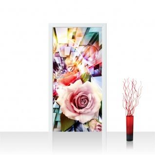 Türtapete - Abstrakt Blume Rose Rechteck | no. 991