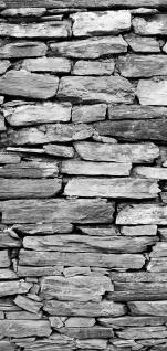Türtapete - Steinwand Steinoptik Steine Wand Mauer Steintapete   no. 172 - Vorschau 5