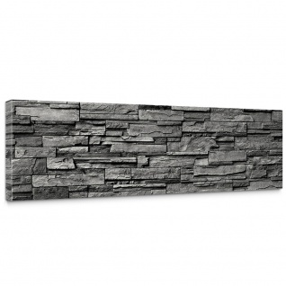 Leinwandbild Noble Stone Wall - anthrazit Steinoptik Steinwand Stonewall Steine | no. 131