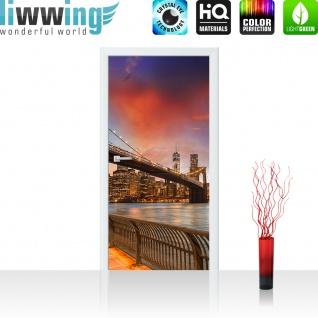 Türtapete - New York Bridges Skyline New York City USA Amerika Big Apple | no. 21 - Vorschau 2