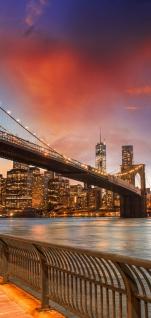 Türtapete - New York Bridges Skyline New York City USA Amerika Big Apple | no. 21 - Vorschau 5
