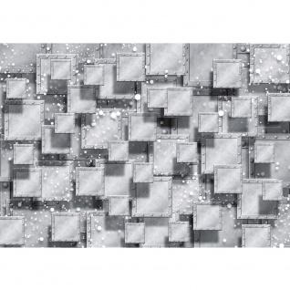 Fototapete 3D Tapete Abstrakt Rechtecke Platten Nieten Perlen Design 3D Optik grau   no. 883
