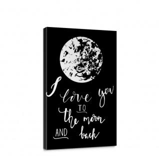 Leinwandbild Kunst Mond Liebe Abstrakt | no. 5710