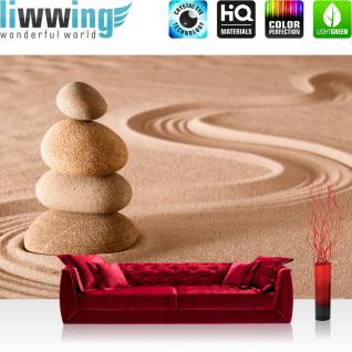 liwwing Vlies Fototapete 300x210 cm PREMIUM PLUS Wand Foto Tapete Wand Bild Vliestapete - Natur Sand Ruhe - no. 222