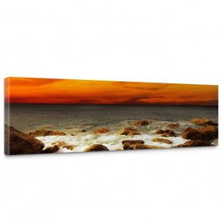 Leinwandbild Rocky Beach Sunset Sonnenaufgang Strand Meer Felsen Sunset | no. 60