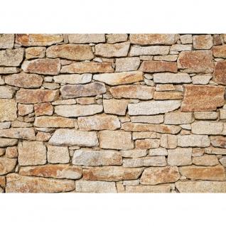 Fototapete Steinwand Tapete Steinwand Steinoptik Steine Wand Mauer Steintapete beige | no. 163