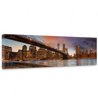 Leinwandbild New York Bridges Skyline New York City USA Amerika Big Apple | no. 21 - Vorschau 1