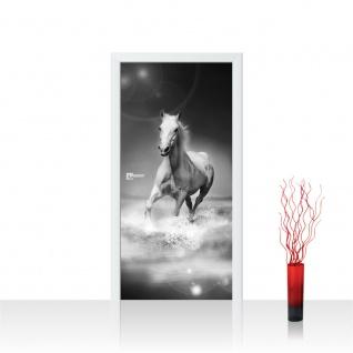 Türtapete - Pferd Wasser | no. 1015