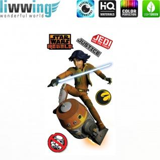 Wandsticker Disney Star Wars - No. 4637 Wandtattoo Sticker Kinderzimmer Laserschwert Weltall Raumschiffe Jungen