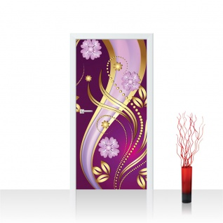 Türtapete - Ornamente Blumen Ranke | no. 585