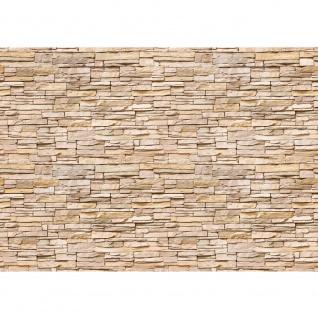 Fototapete Asian Stone Wall - natural - kleinere Steine anreihbare Tapete Steinwand Steinoptik Wand grau | no. 142