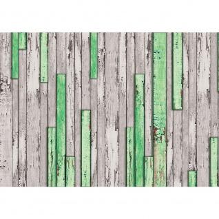 Fototapete Holz Tapetewand Holz Wand Leisten Bretter grün | no. 1269